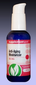 Anti-Aging Moisturizer Cream with DHEA, 4 fl oz