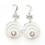 Crystal Earrings 033 (Stud) --  Swarovski Crystals in Pink with Polished Silver Finish (SKU: CrystalEarrings033)
